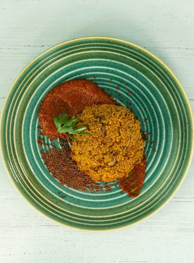 Hamburguesa de quinoa